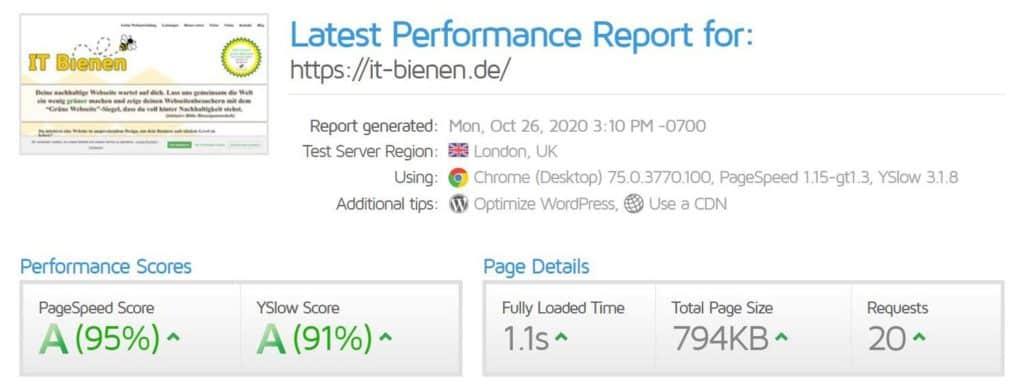 GTMetrix für schnellere Webseiten